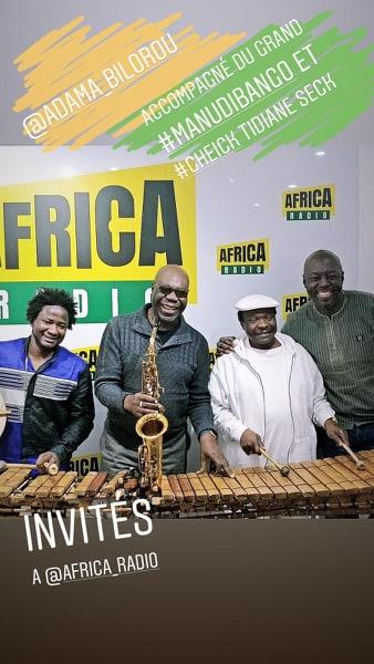 invites_Africa_radio_Adama_bilorou_Cheick_tidian_seck_manu_dibango